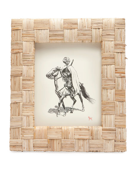 "Grasse Natural Cane  Picture Frame, 8"" x 10"""