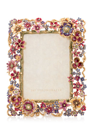 "Jay Strongwater Floral Cluster Picture Frame, 5"" x 7"""