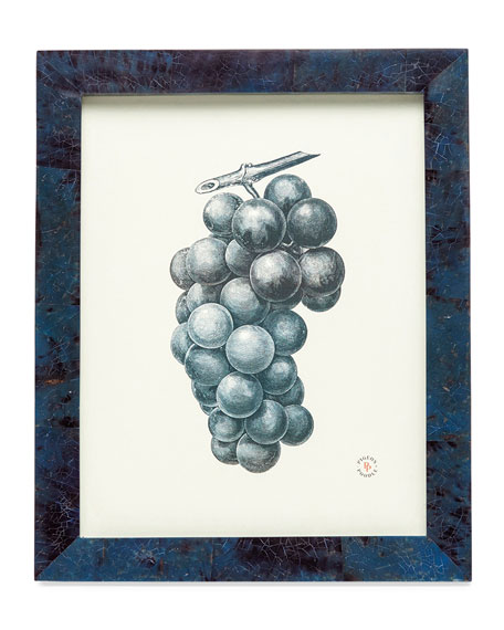 "Colmar Dark Blue Shell Picture Frame, 8"" x 10"""