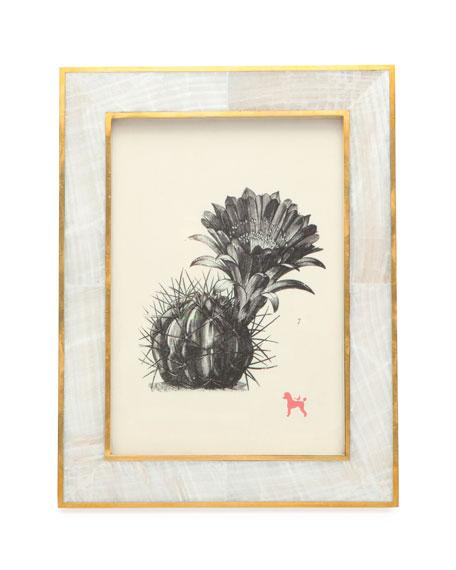 "Bari Natural Clamstone Picture Frame, 5"" x 7"""