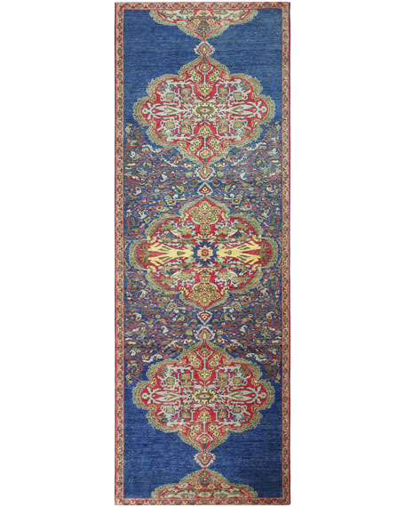 Royal One-of-a-Kind Hand-Knotted Runner, 4' x 12.2'