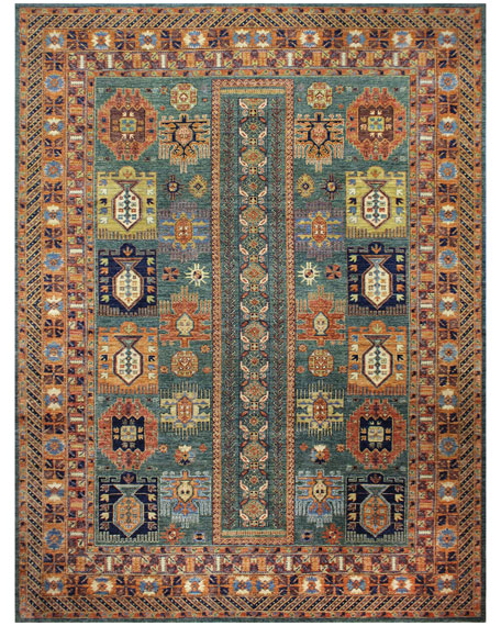 Nancy One-of-a-Kind Hand-Knotted Rug, 8.1' x 11.1'