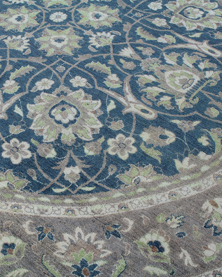 One-of-a-Kind Hand-Knotted Rug, 10'Dia.