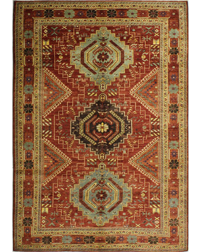 Gennadi One-of-a-Kind Hand-Knotted Rug  6.6' x 9.9'