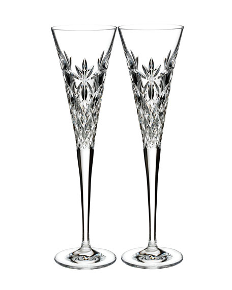 Waterford Crystal Times Square Flutes, Set of 2