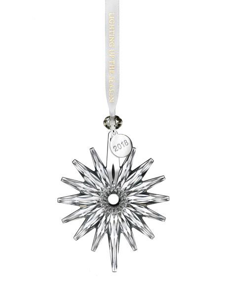2018 Annual Snow Crystal Christmas Ornament
