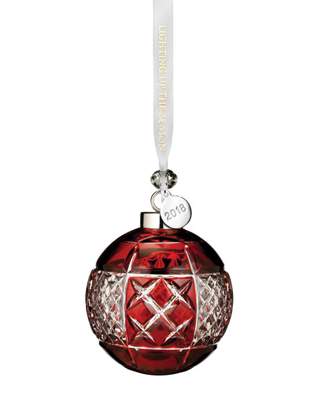 2018 Ball Christmas Ornament, Ruby