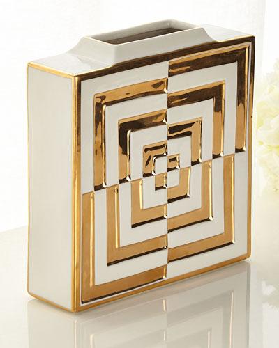 Futura Op Art Square Vase