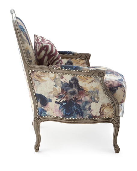 Windsor Floral Bergere Chair