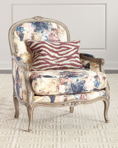 Windsor Floral Bergère Chair