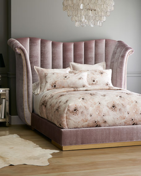 Haute House Moira Channel Tufted Queen Bed and