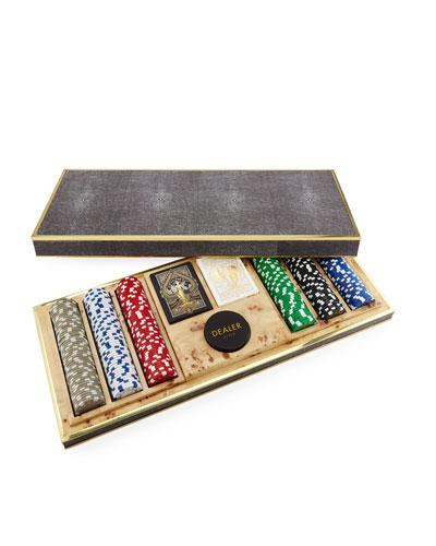 Shagreen Poker Set