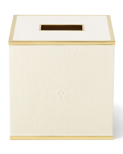 Classic Shagreen Tissue Box Holder