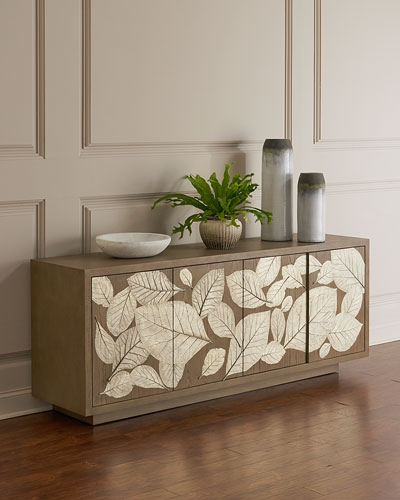 Teak Leaf Entertainment Console
