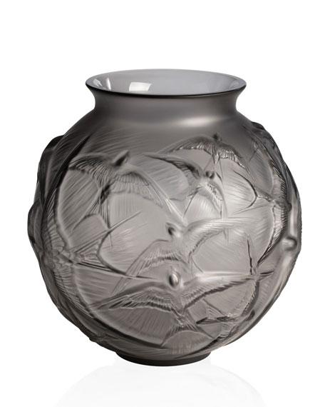 Hirondelles Medium Vase, Gray