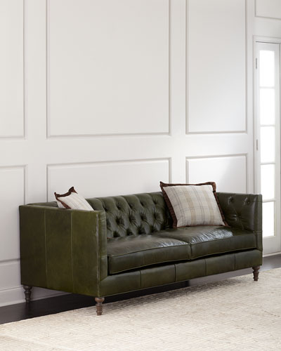 Mackenzie Tufted Leather Sofa