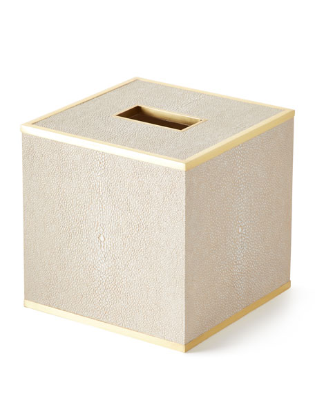 AERIN Classic Shagreen Tissue Box Cover and Matching