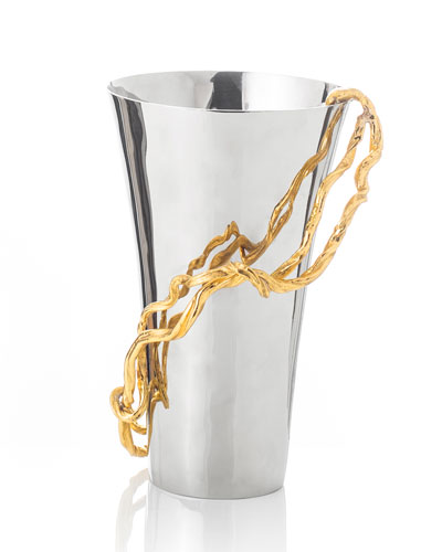 Wisteria Gold Medium Vase