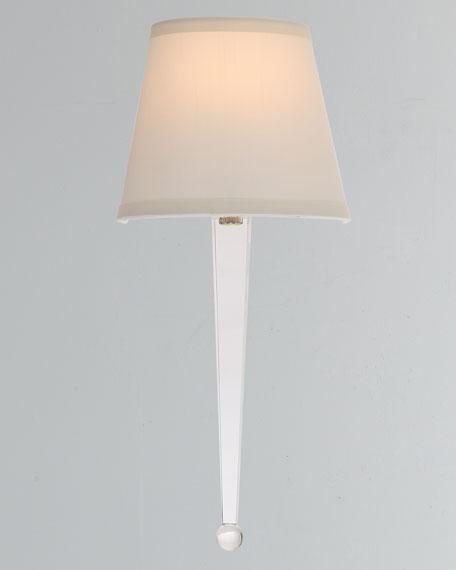 Harris 1-Light Polished Nickel Steel Sconce