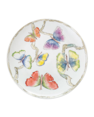 Butterfly Gingko Tidbit Plates, Set of 4
