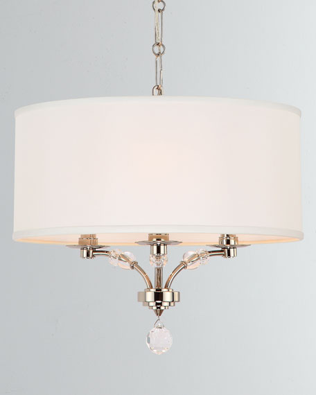 Crystorama Mirage 3-Light Nickel Mini Chandelier
