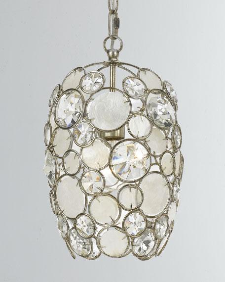 Palla 1-Light Antiqued Silver Mini Chandelier