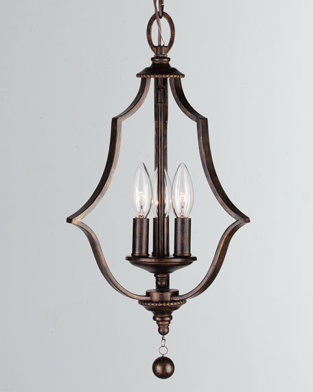 Parson 3-Light English Bronze Mini Chandelier