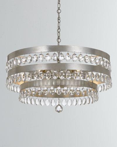 Perla 8-Light Antiqued Silver Chandelier
