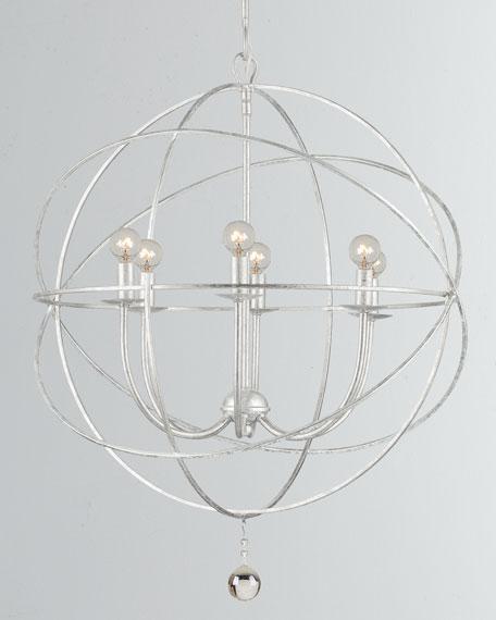 Solaris 6-Light Silver Sphere Chandelier