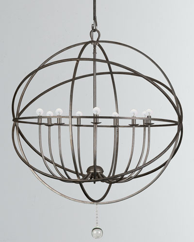 Solaris 9-Light Sphere Chandelier