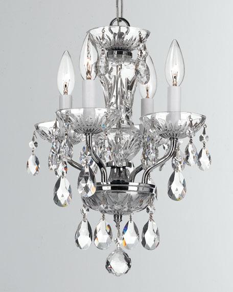 Traditional Crystal 4-Light Chrome Mini Chandelier
