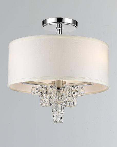 Addison 3-Light Polished Chrome Mini Chandelier Ceiling Mount