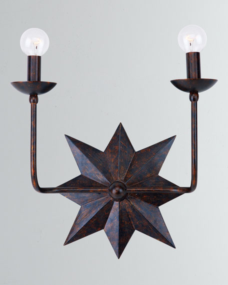 Astro 2-Light Bronze Sconce