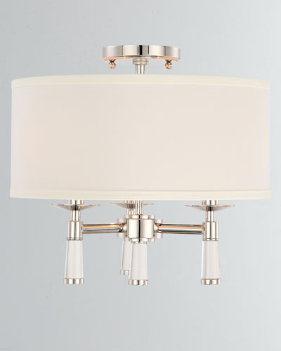 Baxter 3-Light Polished Nickel Ceiling Mount