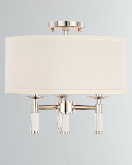 Baxter 3-Light Polished Nickel Ceiling Mount