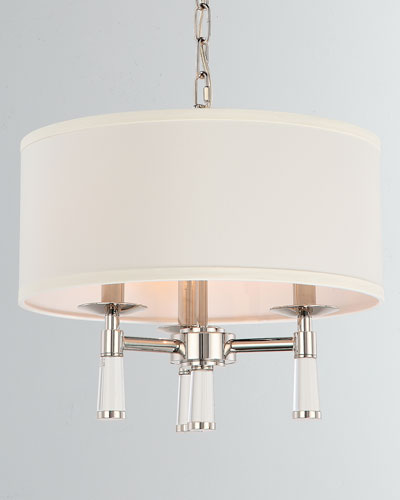 Baxter 3-Light Polished Nickel Chandelier