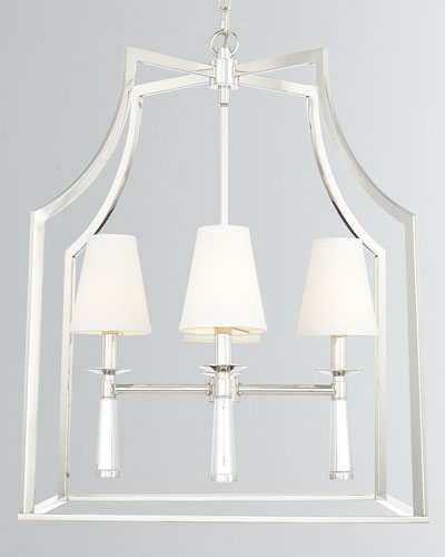 Baxter 4-Light Polished Nickel Chandelier