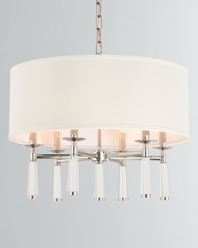 Baxter 6-Light Polished Nickel Chandelier