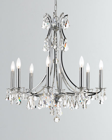 Crystorama Cedar 8-Light Polished Chrome Chandelier