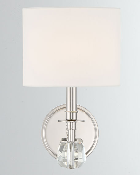 Chimes 1-Light Polished Nickel Sconce