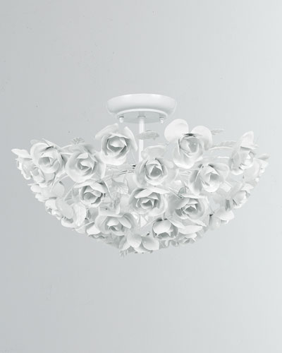 Cypress 3-Light Floral Semi Flush