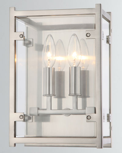Danbury 2-Light Brushed Nickel Sconce