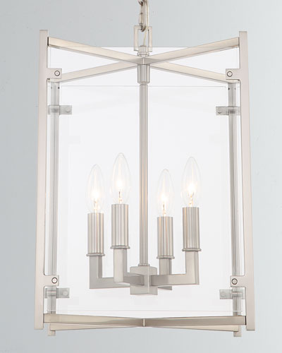 Danbury 4-Light Brushed Nickel Chandelier, 13.75