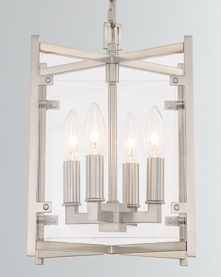 "Danbury 4-Light Brushed Nickel Chandelier, 18.5""T"