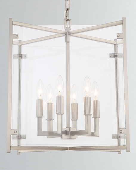 Danbury 6-Light Brushed Nickel Chandelier