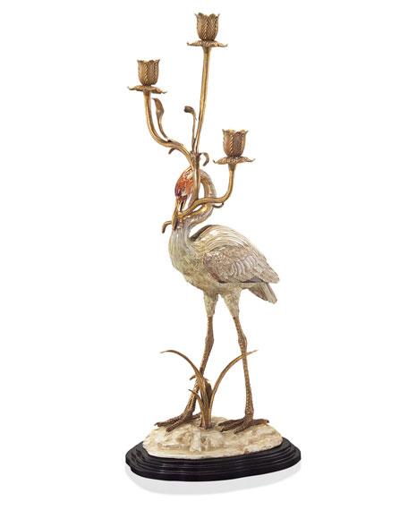 Crane Candle Holder