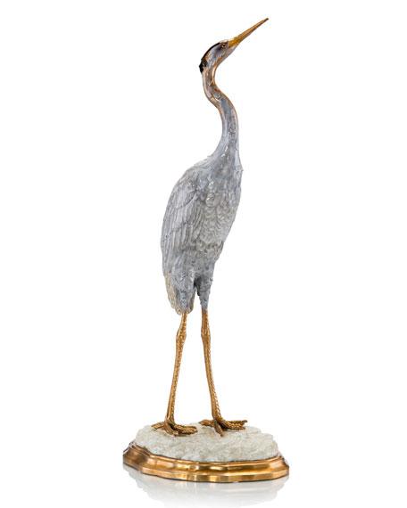 Posed Crane Statue