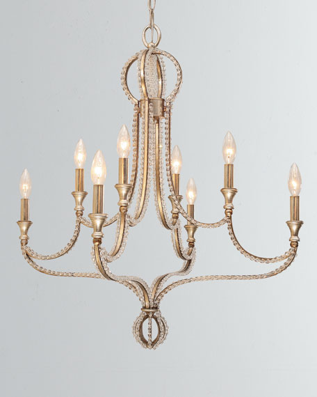 Garland 8-Light Crystal Bead Chandelier