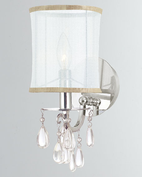 Hampton 1-Light Chrome Sconce