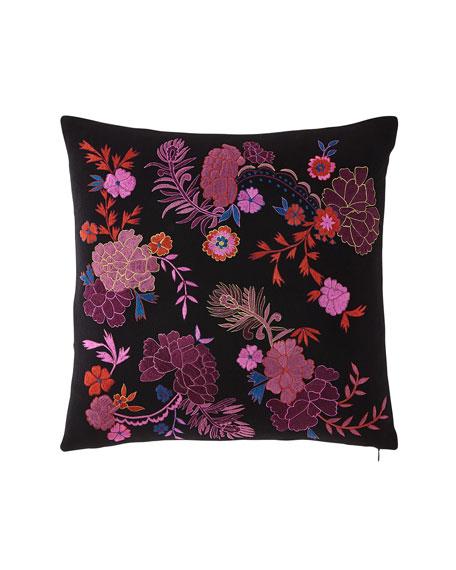 Natori Bohemian Floral Embroidery Pillow